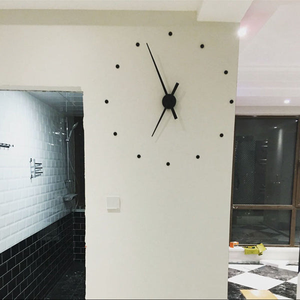 3D DIY Wall Clock Large Size Clocks Sticker Home Decoration Accessories Modern Design Big Wall Watch For Living Room Quartz - Slabiti