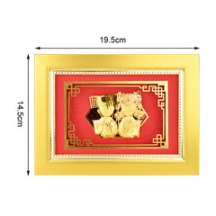 3D Framed pictures Just Married decor 24K Gold foil Painting Wedding decor Gold gifts Wall art Picture Desktop Crafts Home decor - Slabiti