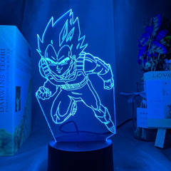 3D Lamp Dragon Ball Goku VS Jiren Figure Kids Bedroom Decor Light Child Birthday Anime Gift Led Night Light Dragon Ball Gadget - Slabiti