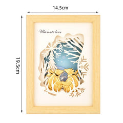 3D Lover Bear Framed Painting 24K Gold Foil painting Modern Art Framed pictures Gold Couple Bear Wall Decor Home decoration Gift - Slabiti