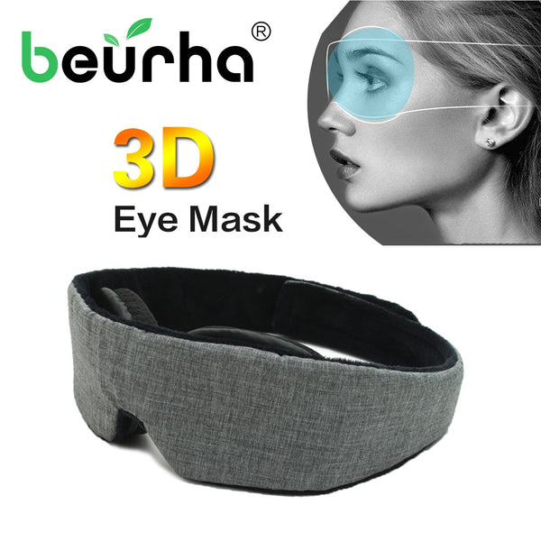 3D adjustable Sleep Mask Natural Sleeping Eye Mask Eyeshade Cover Shade Eye Patch Soft Portable Blindfold Travel Eyepatch - Slabiti