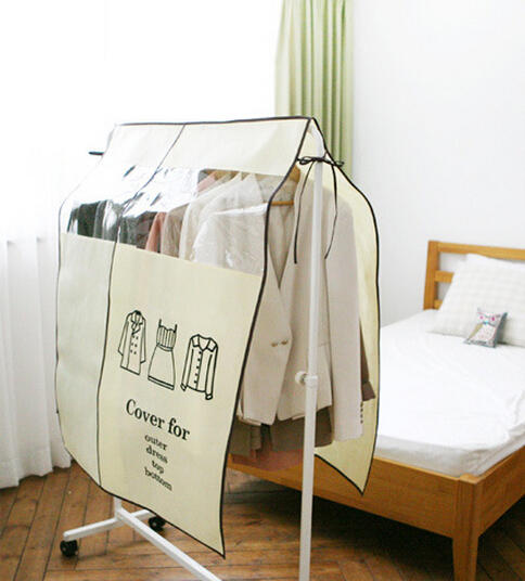 Anti Dust Waterproof Clothes Shirts Wardrobe Cover Non-woven Fabric Clothes Storage Bag - Slabiti