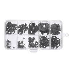 300PCS Manganese Steel E-type Circlip Retaining Ring 1.5-10mm Combinations Black - Slabiti