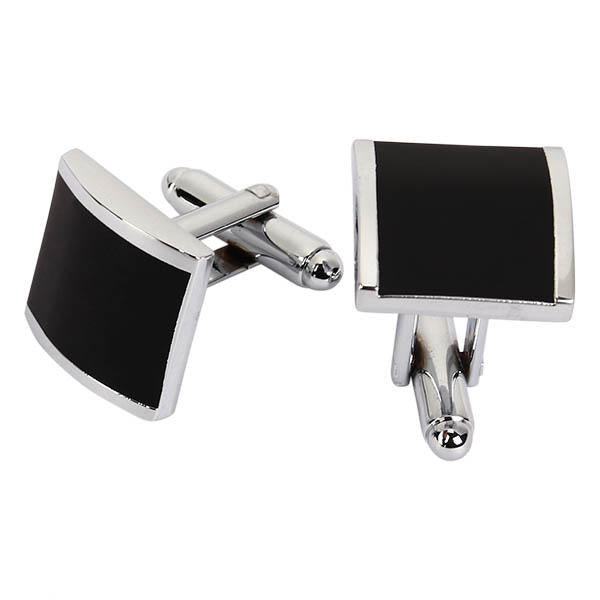 WSC Men Cufflinks Metal Series Stylish Enamel Square Shape Decoraction for Shirts - Slabiti