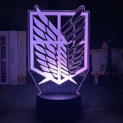 3d Illusion Led Night Light Wings of Liberty 7 Colors Changing Nightlight for Kids Room Decor Table Lamp Attack on Titan Gift - Slabiti