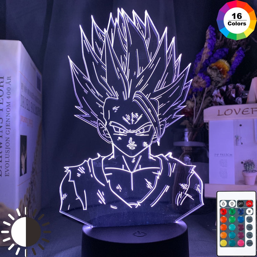 3d Lamp Dragon Ball Z Gohan Figure Child Bedroom Decor Nightlight Cool Kids Gift Anime Gadget Led Night Light Dragon Ball - Slabiti
