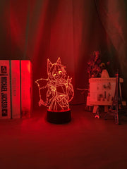 3d Lamp The Helpful Fox Senko San Figure Nightlight Color Changing Usb Battery Night Light for Girls Bedroom Decor Light Holo - Slabiti