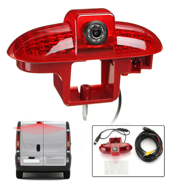 Car LED High Mount Stop Lamp 3RD Brake Light with Rear View Camera for Renault Trafic 2001-2014 European Type - Slabiti