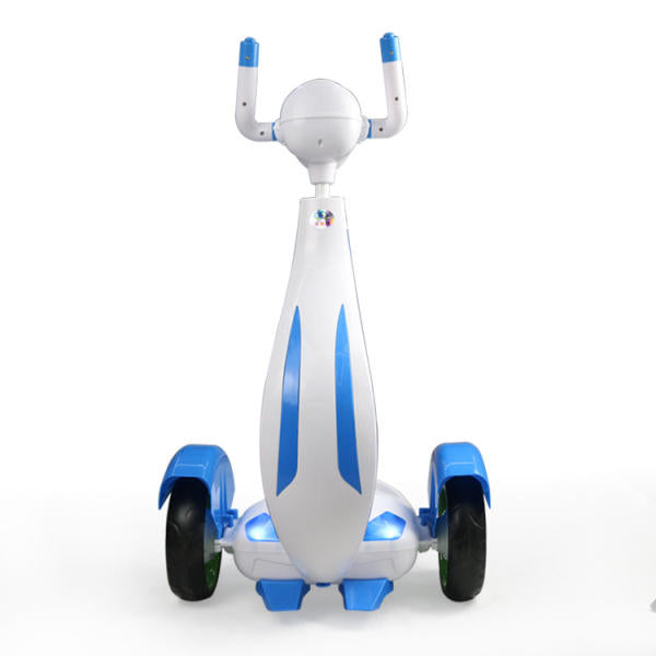 6V Children Electric Scooter Rechargeable Dual Engine For Above 6 Years Old Orange Blue - Slabiti