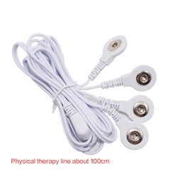 4 ways Electrode Tens Cable Conductive Line Wire for Electrode Pads Digital Tens Massage Machine Body Meridian Therapy Massage - Slabiti