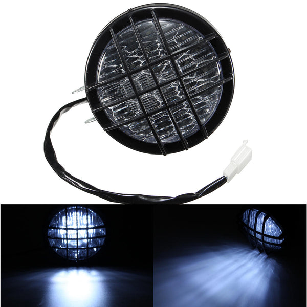 5inch LED Motorcycle Grill Headlight Headlamp Light For Harley Chopper Bobber - Slabiti