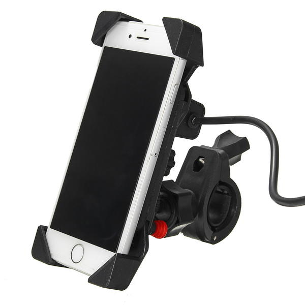 12-24V2.1A Universal Phone GPS USB Chargeable Holder For Electric Scooters Motorcycle Bike Bicycle - Slabiti