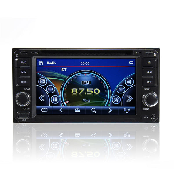 Double 2 Din 6.95 Inch Stereo Car DVD CD Player bluetooth Radio iPod SD/USB TV - Slabiti