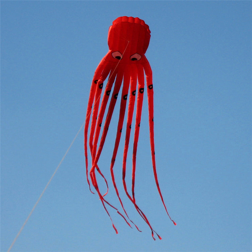 35Inches Octopus Kite Outdoor Sports Toys For Kids Single Line Parachute Toys - Slabiti