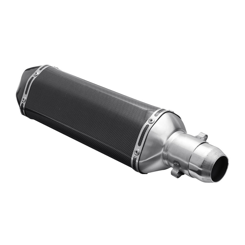 38mm-51mm Motorcycle Exhaust Muffler With Removable Silencer Carbon fiber Color - Slabiti
