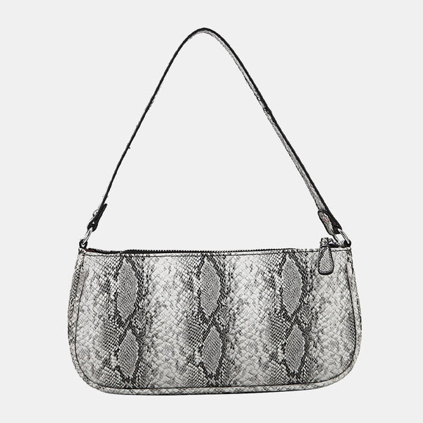 Women Alligator Snake-Skin Pattern Patent Leather Handbag Shoulder Bag - Slabiti