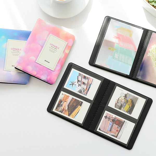 32/64 Pockets Starry Sky PU Cover Photo Album For 3/5 inch Picture Mini Portable Family Memory Gift