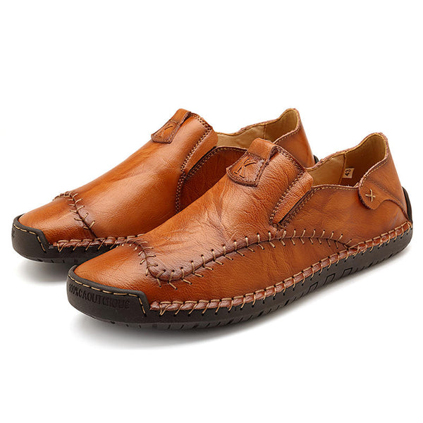 Menico Big Size Men Soft Hand Stitching Slip-on Loafers - Slabiti