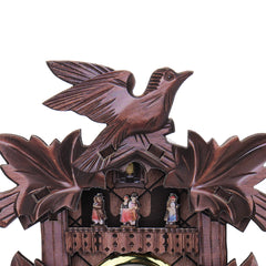 Bird Decorations Home Cafe Art Chic Swing Vintage Black Forest Cuckoo Wall Clock - Slabiti