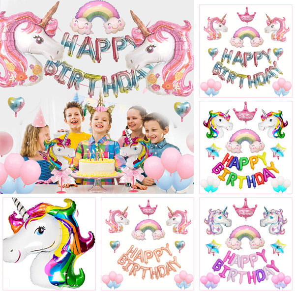 Cartoon Foil Balloons Happy Birthday Balloon for Baby Kids Birthday Wedding Party Supplies Decorations - Slabiti
