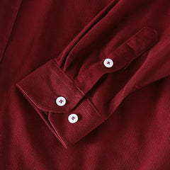 Men Thin Corduroy Button Decoration Vintage Shirts - Slabiti