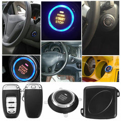 Universal PKE Car Keyless Entry System Smart Engine Push Start Button with Remote - Slabiti