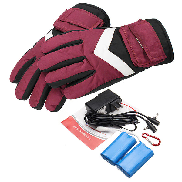 7.4V 2800mah Waterproof Battery Thermal Heated Gloves For Motorcycle Racing Winter Warmer - Slabiti