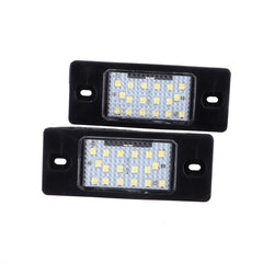 2Pcs Car LED License Number Plate Lights Rear Lamps 12V For Porsche Cayenne VW Touareg - Slabiti
