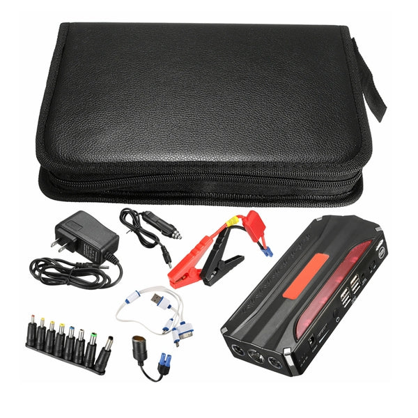 11000mAh Car Jump Starter 4USB Multi-Function Powerbank Battery Booster Pack for 12V 4.0L Petrol 2.5L Diesel Engine - Slabiti
