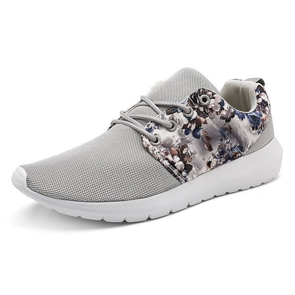 Women Sneakers Breathable Print Flower Casual Shoes - Slabiti
