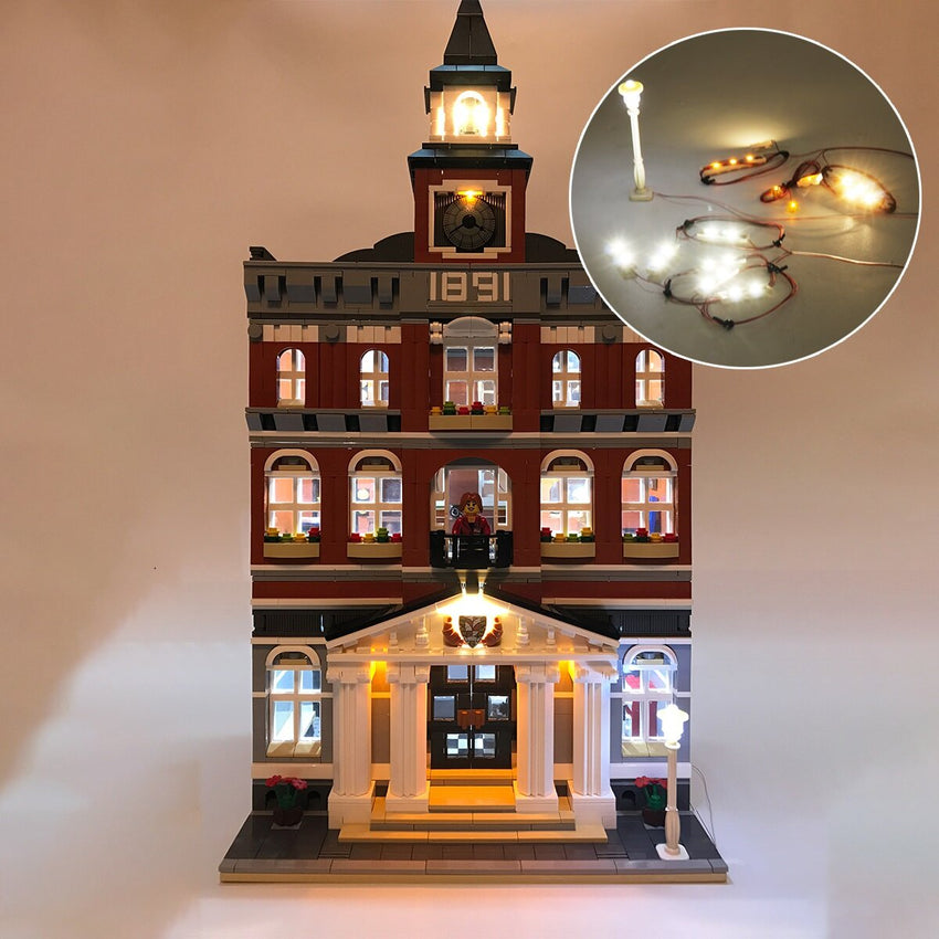 DIY LED Light Lighting Kit ONLY For LEGO 10224 Town Hall Creator Building Bricks Toy - Slabiti