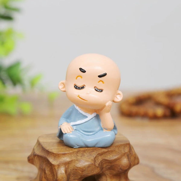 4Pcs/Set Resin Cute Monk Home Decoration Car Decoration - Slabiti