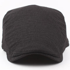 Mens Cotton Painter Beret Hats Outdoor Thin Breathable Gatsby Newsboy Hunting Hat - Slabiti