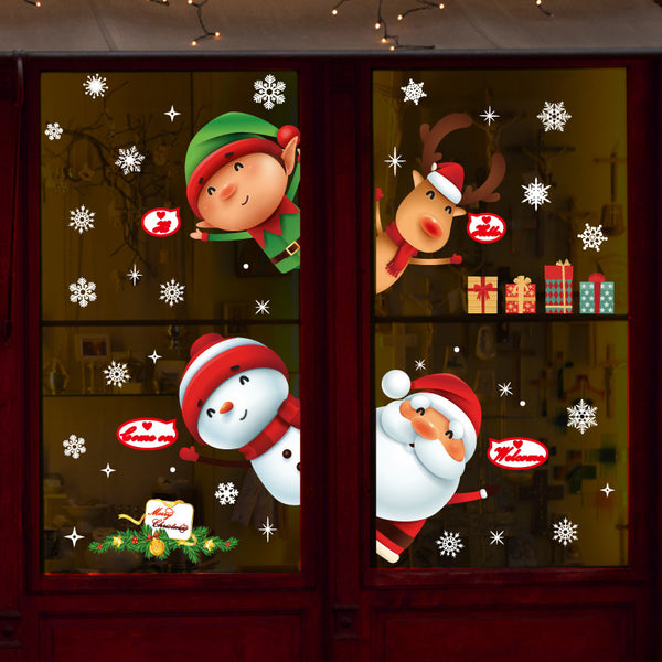 Miico SK9242 Christmas Sticker Window Door Wall Stickers Removable For Christmas Decoration - Slabiti