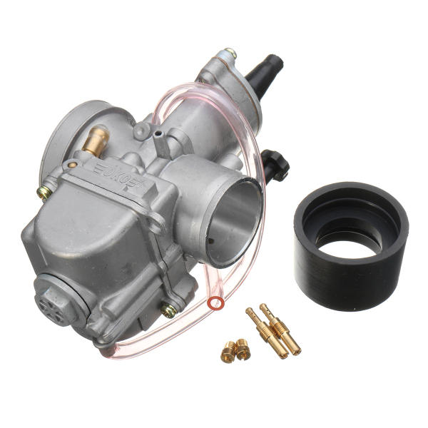 34mm 55mm Intake Carburetor 2 Stroke Racing Flat Side Part Carb Dirt Bike ATV Motorcycle 300cc