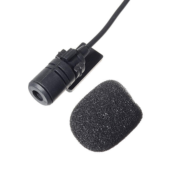 Car DVD Microphone Hands Free Clip 3.5mm Mini Studio Speech Microphone - Slabiti