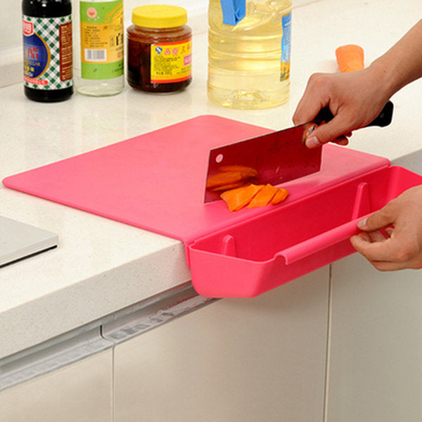 2 in 1 Thickened Antibacteria Cutting Board Collecting Board Kitchen Tool - Slabiti