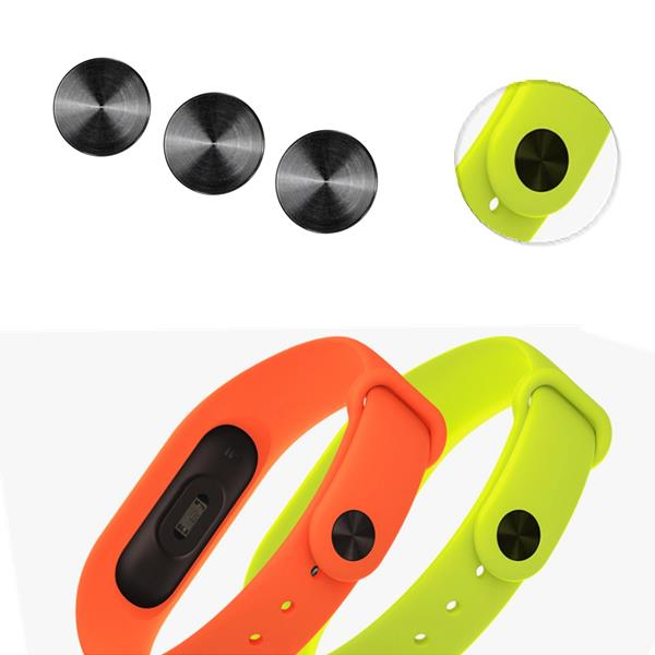 Mi-jods Black Band Buckle for Xiaomi Miband 2 Smart Wristband Wrist Strap - Slabiti