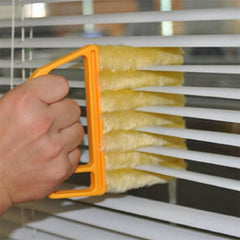 Microfibre Window Shutters Cleaning Brush Vents Clean Air Conditioning Cleaner with 7 Slat Handheld - Slabiti