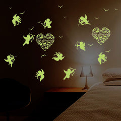 Cupid Wall Sticker Glow In The Dark Luminous Fluorescent Baby Wall Stickers Home Decor Decals - Slabiti