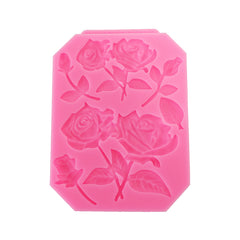Food Grade Silicone Cake Mold DIY Chocalate Cookies Ice Tray Baking Tool Rose Shape - Slabiti