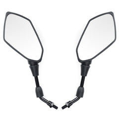 8mm/10mm Motorcycle Mirrors Scooter E-Bike Rearview Mirror Orthodontic Positive With Carbon Fiber Shell - Slabiti