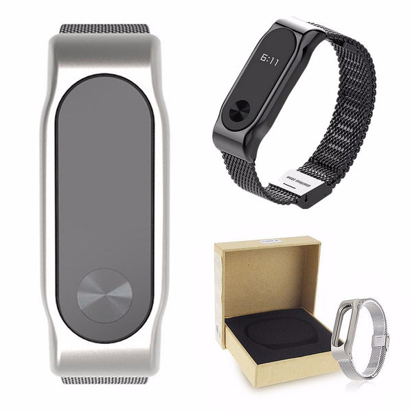 Replacement Stainless Steel Frame Bracelet Wristband For Xiaomi Miband 2 - Slabiti