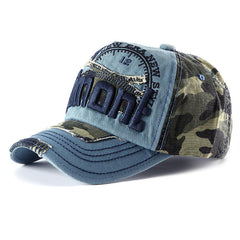 Unisex Embroidery Baseball Cap Camouflage Casual Outdoor Hip-hop Hat - Slabiti