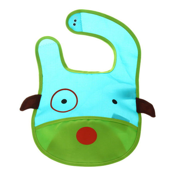 Cute Cartoon Animal Baby Infant Waterproof Bibs Scarf Feeding Supplies - Slabiti
