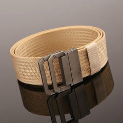 130CM Mens Double Ring Buckle Belt Nylon Military Tactical Durable Sport Jeans Waistband - Slabiti