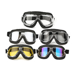 Motorcycle Goggles Motor Bike Flying Scooter Helmet Glasses Goggle Anti UV - Slabiti