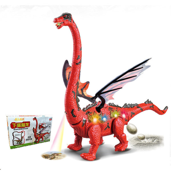 Electric Dinosaur Toy Lay Eggs Projection Kid Gift Funny Novelties Toys - Slabiti