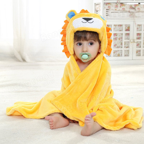 Cute Animal Cartoon Baby Infant Wrap Parisarc Soft Flannel Blanket Quilt Bathrobe - Slabiti