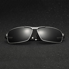 Men Polarized Sunglasses Vintage Outdoor Sports Driving Square Full Frame Gafas Eyewear - Slabiti